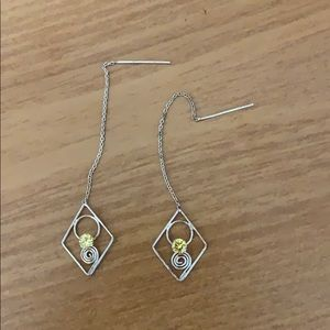 Sterling silver earrings. Never used